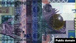 Банкнота тенге номиналом 10 тысяч.