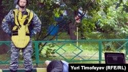 На месте убийства Юрия Буданова