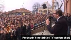 Vučić u obraćanju građanima u Mrkonjić Gradu