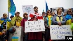 Протест у Вашингтоні біля будівлі Білого дому проти агресії Росії стосовно України, 26 березня 2015 року