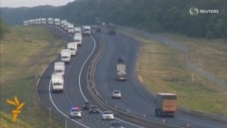 Russian Convoy Advances Toward Ukrainian Border