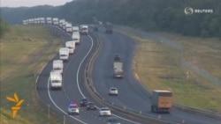 Russian Convoy Advances Toward Ukrainian Border