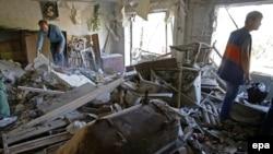 После атаки пророссийских сепаратистов в Горловке, Украина