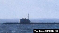 """Предполагаема снимка на подводница """"Лошарик"""". Скрийншот от руското издание на """"Топ гиър""""."""