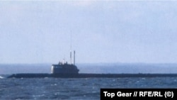 "A photo that is alleged to be of a stealthy, advanced Russian spy submarine known as ""Losharik."""