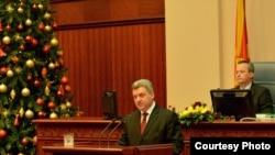 Годишно обраќање на претседателот Ѓорге Иванов пред пратениците на Собранието на Република Македонија.