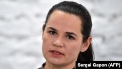 кандидатката на претседателските избори Светлана Тихановска