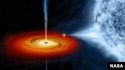 Черная дыра Cygnus X-1, сформировавшаяся рядом с голубым гигантом