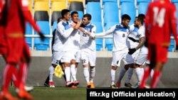 Игроки сборной Кыргызстана по футболу.