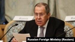 مسکو - سخنرانی سرگئی لاوروف، وزیر خارجه روسیه، در مذاکرات صلح افغانستان