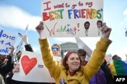 Демонстрация в поддержку однополых браков