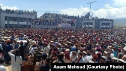 Tens of thousands of supporters of the Pashtun Tahafuz Movement participated in a protest in Miran Shah, the administrative capital of North Waziristan on April 14.