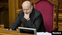 В.д. претседателот на Украина, Олександр Турчинов.