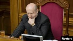 Исполняющий обязанности президента Александр Турчинов. Киев, 28 февраля 2014 года.