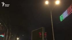 Селаи зоғон дар шаби Душанбе