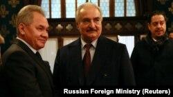 Khalifa Haftar yanvarın əvvəllərində Rusiya müdafiə naziri Sergei Shoigu ilə Moskvada danışıqlar aparıb