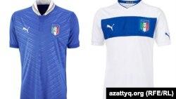 Италия ұлттық құрамасының формасы.