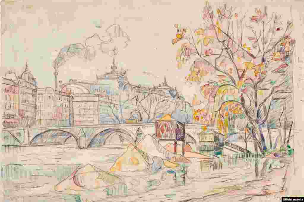Paul Signac (1863–1935) Inandație la Pont Royal, 1920 (?)