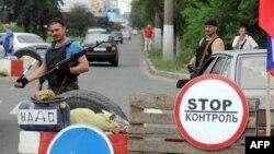 La intrarea în Doneţk