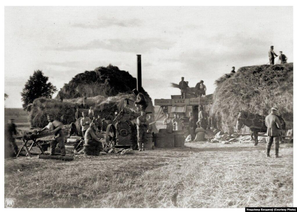 Немцы на сельгаспрацах каля Нарачы, 1916 год