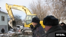 Houses being demolished in Rechnik in January.