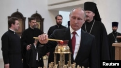 Владимир Путин в русском духовно-культурном центре в Париже, май 2017
