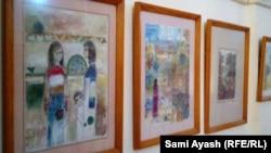 جانب من معرض الفنان انتصار البهرزي