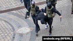 Задержание в Минске. 8 ноября 2020 года.