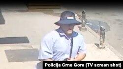 Potencijalni napadač na Šukovića, izvor: Policija Crne Gore