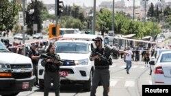 نیروهای امنیتی اسرائیل در اورشلیم/بیت المقدس (عکس از آرشیو)