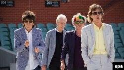 Участники британской рок-группы Rolling Stones. Аделаида, 23 октября 2014 года.