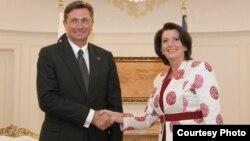 Presidentja e Kosovës e ka pritur në zyren e saj, homologun slloven, Borut Pahor