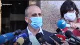 Ваграм Аветисян беседует с журналистами, 30 июля 2020 г.
