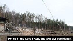 Последствия взрыва в селении Врбетице
