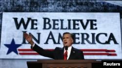 Митт Ромни на съезде Республиканской партии