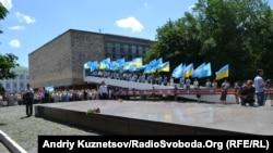 Мітинг біля братської могили молодогвардійців, Краснодон
