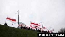 Шествие «на Дзяды» в урочище Куропаты, Минск, Беларусь, 3 октября 2019 года