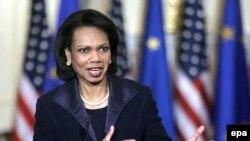 خانم رایس گفت آمریکا به دنبال نه تغییر رژیم ایران، که به دنبال تغییر رفتار رژیم ایران است.