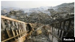 Pamje shkatërruese të cunamit në vitin 2011 në Japoni