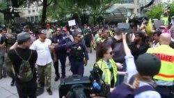 Во Вашингтон контрапротестите поголеми од протестот на екстремистите