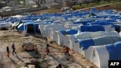 Սիրիա - Փախստականների վրանային ավանը Աթմեում, արխիվ