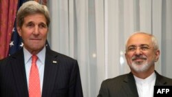 U.S. Secretary of State John Kerry (left) and his Iranian counterpart Mohammad Javad Zarif (right) will be discussing Syria with other foreign ministers over the next couple days.
