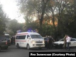 Машина скорой помощи в Ереване, 29 сентября 2020 года