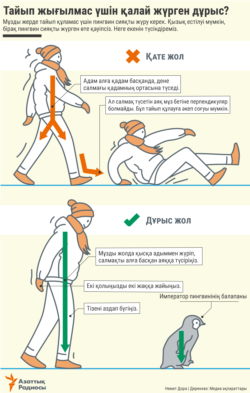 Infographics - how to walk on ice - KAZ