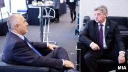 Bugarski premijer Bojko Borisov i makedosnki predsednik Đorđi Ivanov tokom susreta pre dve godine