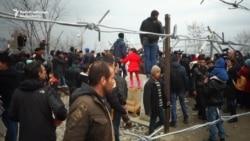 Migrants Try To Storm Greek-Macedonian Border