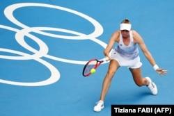 Елена Рыбакина Токио олимпиадасында. 29 шілде 2021 жыл.