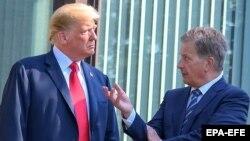 АКШнын президенти Дональд Трамп менен Финляндиянын лидери Сауле Ниинистё. 16-июль, 2018-жыл. 16 July 2018