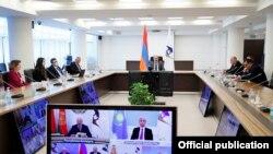 Հայաստանի վարչապետի պաշտոնակատարա Նիկոլ Փաշինյանը մասնակցում է Եվրասիական տնտեսական բարձրագույն խորհրդի նիստին, 21-ը մայիսի, 2021թ.