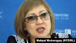 Директор фонда «Журналисты в беде» Розлана Таукина. Алматы, 3 апреля 2014 года.